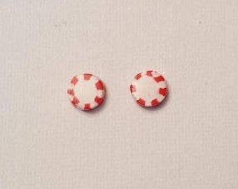 Peppermint Stud Earrings