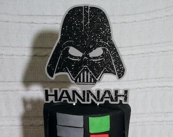 SW Themed, Darth Helmet, Cake Topper, Star Wars-like, Cupcake Cake Toppers, Jedi, Darth, Vadar
