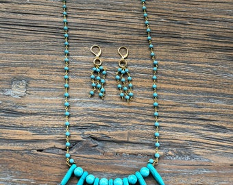 Turquoise ~ Beaded Jewelry ~ Necklace ONLY