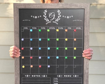 Chalkboard Calendar Etsy