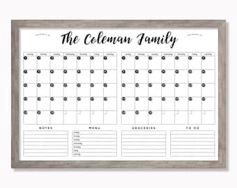 Command Center LARGE Whiteboard Calendar - Dry erase calendar - Framed calendar - 2 months #24175