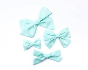 Baby Blue | Baby headband set, Baby bow Headbands, Small Bows, Baby Bows, Newborn headbands, Nylon Headbands, Baby hair bows, blue hair bow