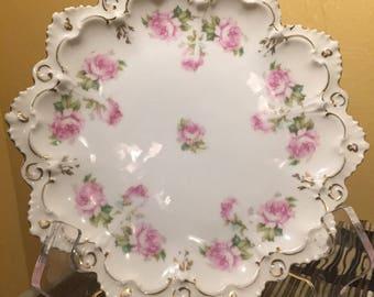 Mz Austria Vintage Hand Painted Decorative Plate