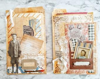 Vintage File Folder Envelope & Travelers Notebook