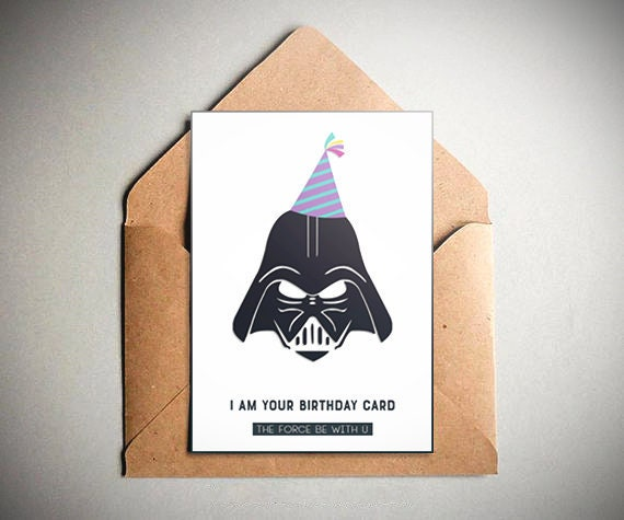 Star Wars Birthday Card.Star Wars Birthday Card Star Wars Darth Vader Birthday Party Card Offer