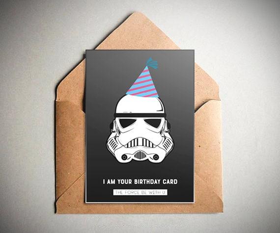 Star Wars Birthday Card.Star Wars Birthday Card Star Wars Trooper Birthday Party Offer