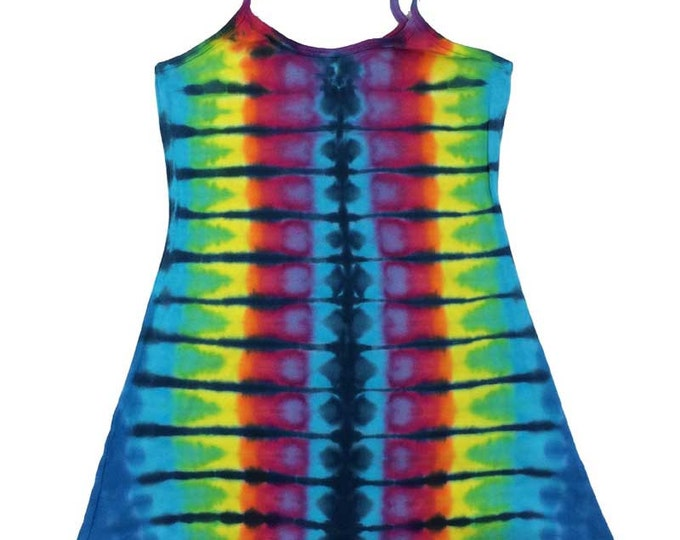 Tie Dye Dress - Stripes Navy