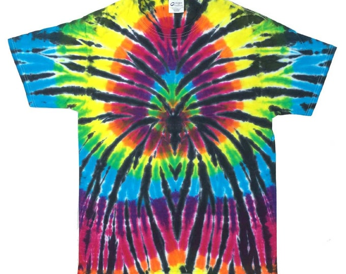 Tie Dye T-Shirt - Spider Black