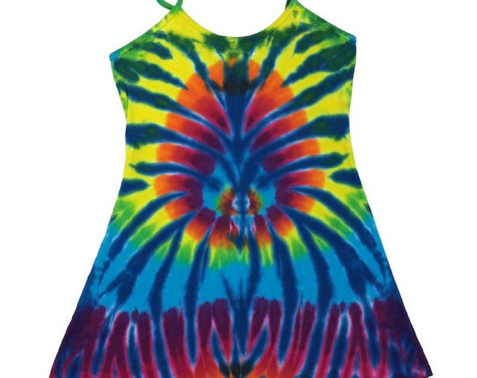 Tie Dye Dress - Spider Cerulean