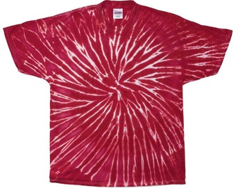 Tie Dye T-Shirt - Spiral Red