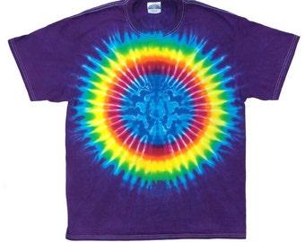 Tie Dye T-Shirt - Earth Rainbow Plum