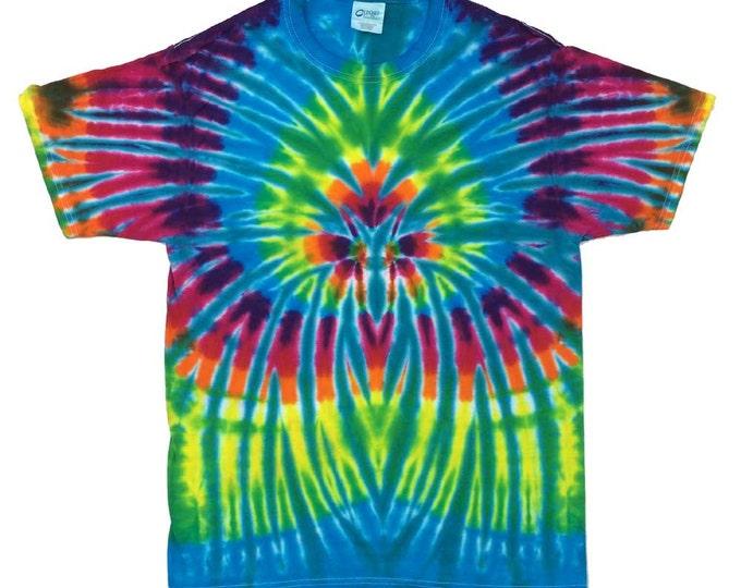 Tie Dye T-Shirt - Spider Aqua