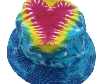 Tie Dye Bucket Hat - Heart