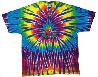 Tie Dye T-Shirt - Spider Plum