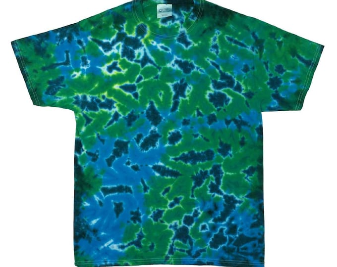 Tie Dye T-Shirt - Crinkle Blue Greens
