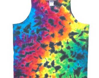 Tie Dye Tank Top - Rainbow Black