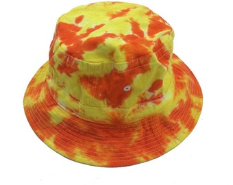 Tie Dye Bucket Hat - Yellow Orange