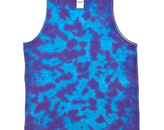 Tie Dye Tank Top - Plum Turquoise