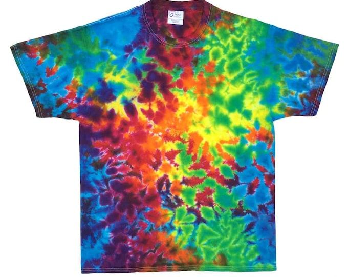 Tie Dye T-Shirt - Crinkle Rainbow 2