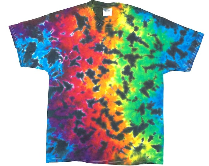 Tie Dye T-Shirt - Crinkle Rainbow