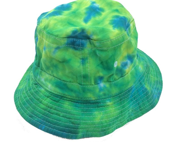 Tie Dye Bucket Hat - Greens