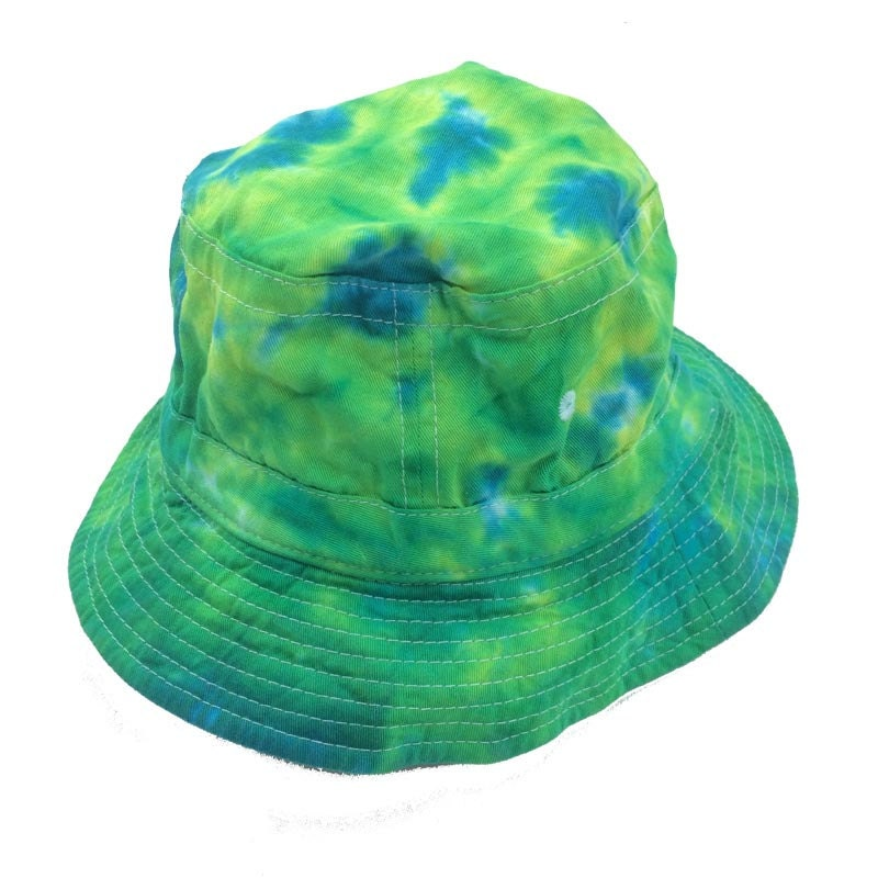 5f6f96e0a1c Tie Dye Bucket Hat - Greens