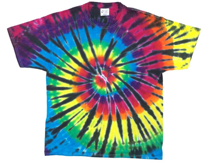Tie Dye T-Shirt - Spiral Black