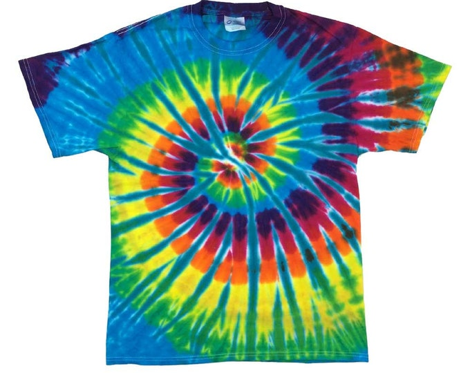 Tie Dye T-Shirt - Spiral Aqua
