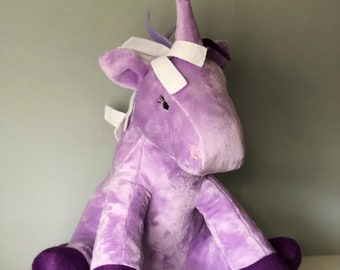Purple Unicorn Toy Plushie