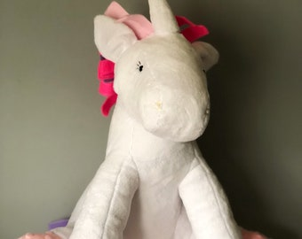 Large White Unicorn Toy Plushie