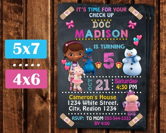 Doc McStuffins Invitation Birthday