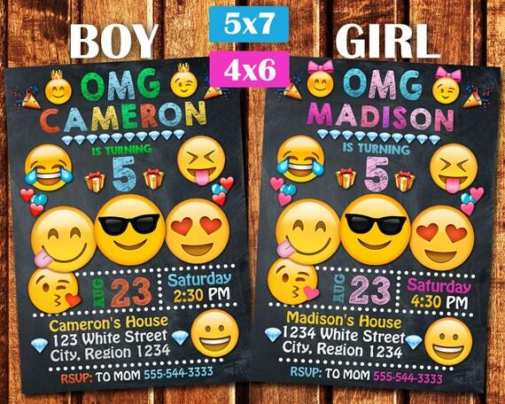 emoji invitation emoji party emoji birthday iinvitation etsy