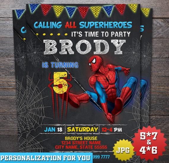 Spider Man Invitation Spiderman Birthday Invitation Spider Man Printable е Spiderman Birthday Party Spiderman Card Spiderman Party