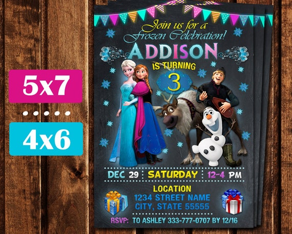 Frozen Invitation Birthday Party
