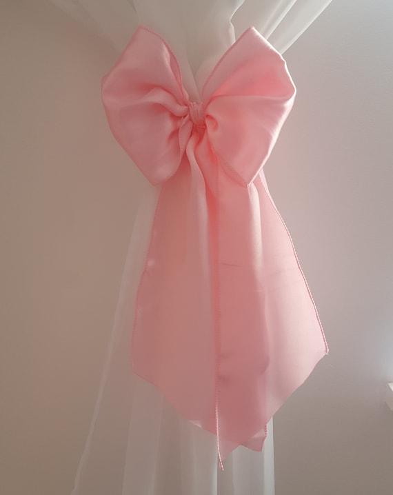 Beautiful Princess Crib Bows: Neutral baby bedding, crib bedding, cot bow,  baby girl bedding, curtain tie back - x 2 Bows