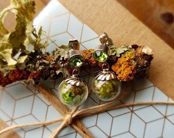 Moss Terrarium Stud Earrings