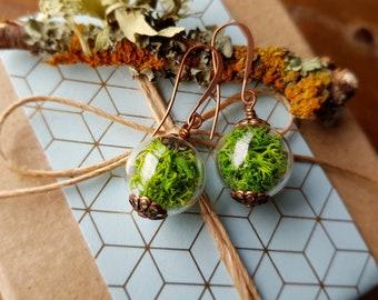 Moss Bead Earrings