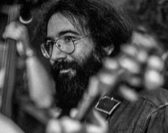 Jerry Garcia jams at The Record Plant, Sausalito CA 1973