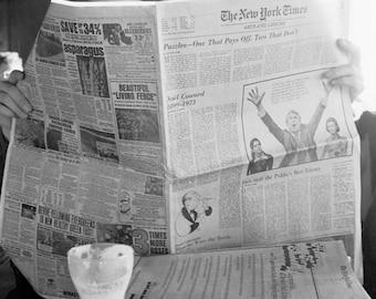 Sunday Times and an Irish Coffee - Archival Fine Art Print on Aluminum