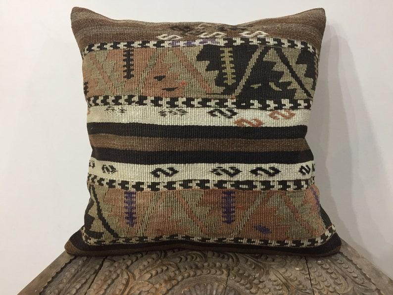 kilim pillow,decorative throw pillow cover,cushion pillow cover,pillow case Vintage kilim pillow,20x20 in\u00e7,50x50 cm,handmade kilim pillow