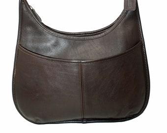 7cd7074af4 Coach Ergo Hobo Style 9033 in Dark Brown Leather, Slim Bucket Bag, Vintage  Shoulder Bag, GREAT CONDITION,