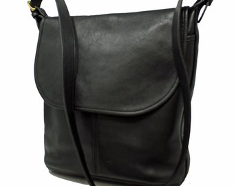 a5bf4c38d65d Vintage Coach Whitney Slim Bucket Bag Cross Body Handbag Tote Style No.  4115 in Black Glove-Tanned Leather