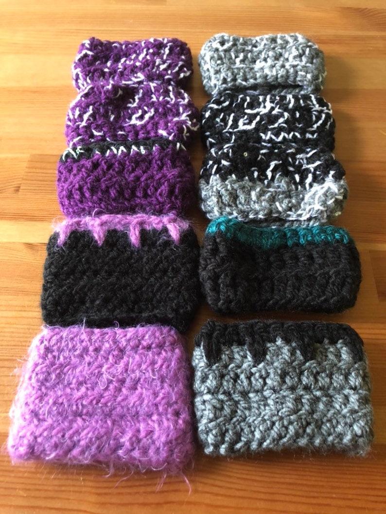 Handmade crochet reusable tea coffee cup cozy