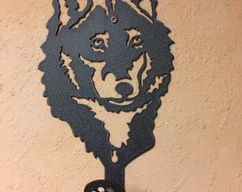 Wildlife Wolf Hook / Hangers / American Made / Home Decor / Cabin Decor / Home / Lodge / Antique Gun Hanger