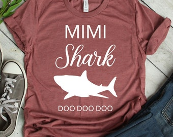 Gift for Mothers Day Shark Family Shirt for Grandma Grandma Shark Doo Doo Doo Shirt