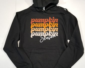 Fall Hoodie Sweatshirt Unisex, Pumpkin Sweatshirt, Pumpkin Hoodie, Retro Hoodie Fall, Pumpkin Spice Shirt, Fall Sweater