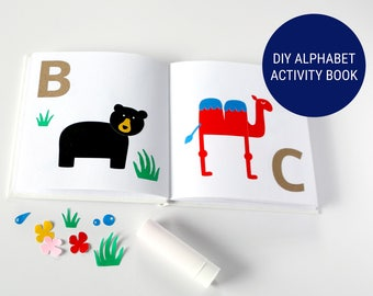 DIY Alphabet Book, Baby's First Alphabet, Unique Guest Book for Baby Shower, Keepsake, Activity & Game, Neutral Shower - ABC Collection