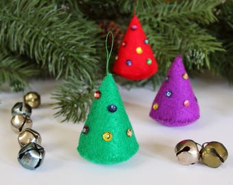 DIY Felt Christmas Tree Ornament Kit