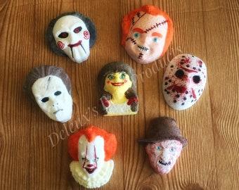 Scary Bath Bombs. Horror Bath Bombs. Horror Movies. Halloween Bath Bombs. Spooky Bath Bomb. Doll Bath Bomb. Gift for Son. Gift for Daughter.