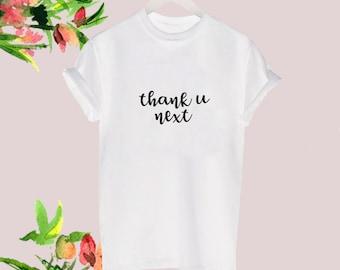 c375dd575 Thank u Next Tshirt Ariana Grande Ladies Tee Black White Tour Fan Concert  Celeb Blogger Popular fashion stylish top You Size S-XXL
